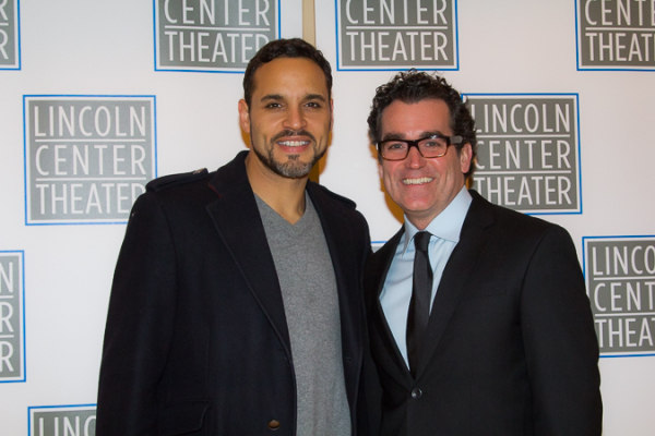 <p>Daniel Sunjata and Brian d&#39&#x3B;Arcy James play Macduff and Banquo, respectively, in <em>Macbeth</em>.</p><br />(© Seth Walters)