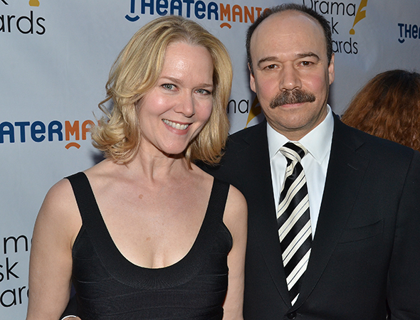 <p>Danny Burstein, a 2014 nominee for <em>Cabaret</em>, with his wfie, Rebecca Luker.</p><br />(© David Gordon)
