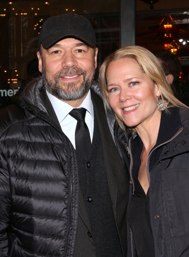 <p>Danny Burstein and Rebecca Luker share an evening at the theater.</p><br />(© David Gordon)