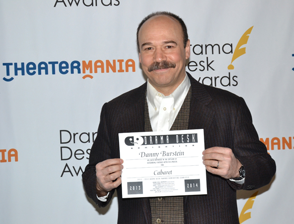 <p>Danny Burstein — Outstanding Featured Actor in a Musical nominee for <em>Cabaret</em>.</p><br />(© David Gordon)
