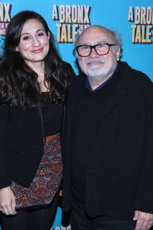 <p>Danny DeVito takes in a night on Broadway with his daughter, Lucy.</p><br />(© Tricia Baron)