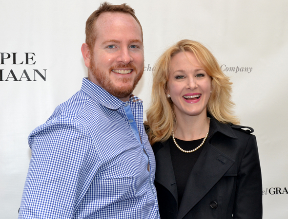 <p>Darren Goldstein and Katie Finneran are always in the mood for a Broadway opening.</p><br />(© David Gordon)