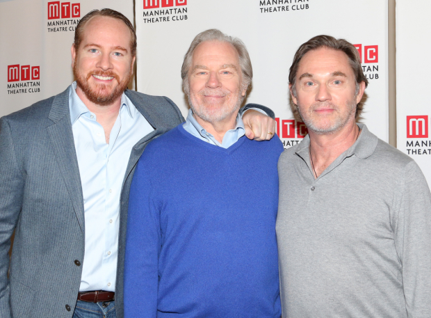 <p>Darren Goldstein, Michael McKean, and Richard Thomas take on the roles of Oscar, Ben, and Horace, respectively.</p><br />(© David Gordon)