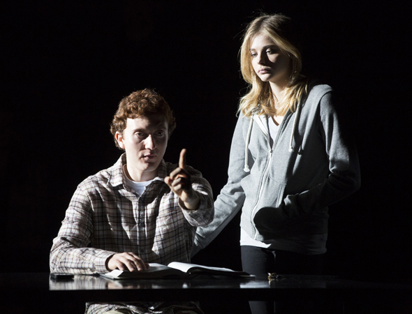 <p>Daryl Sabara and Chloë Grace Moretz work together in Scott Z. Burns&#39&#x3B; new play.</p><br />(© Joan Marcus)