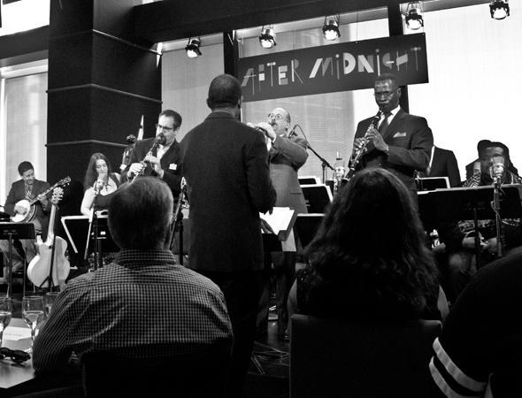 "<p>Daryl Waters leads the Jazz at Lincoln Center All-Stars on ""The Mooche.""</p><br />(© David Gordon)"