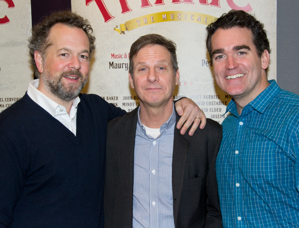 <p>David Costabile, Martin Moran, and Brian d&#39&#x3B;Arcy James are the best of pals.</p><br />(© David Gordon)