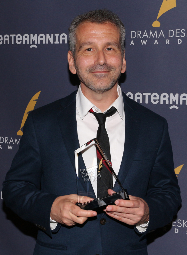 <p>David Cromer, Outstanding Director of a Musical recipient for <em>The Band&#39&#x3B;s Visit</em>.</p><br />(© David Gordon)