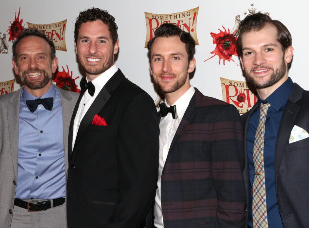 <p>David Hibbard, Aleks Pevec, Erin Giancola, and Ryan VanDenBoom are some of the dashing men in the show&#39&#x3B;s ensemble.</p><br />(© David Gordon)