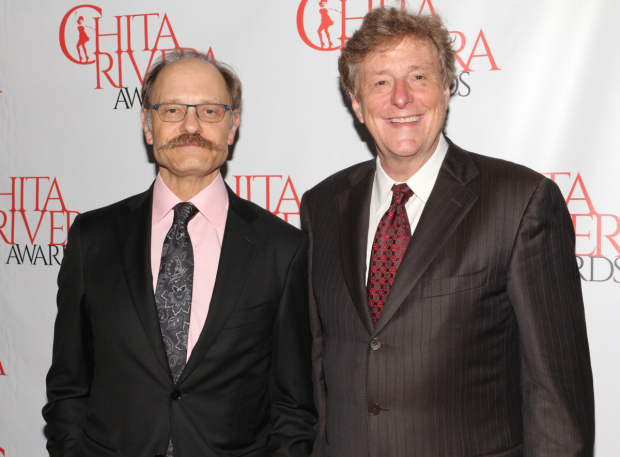 <p>David Hyde Pierce, who presented two awards, poses with his husband, Brian Hargrove.</p><br />(© David Gordon)