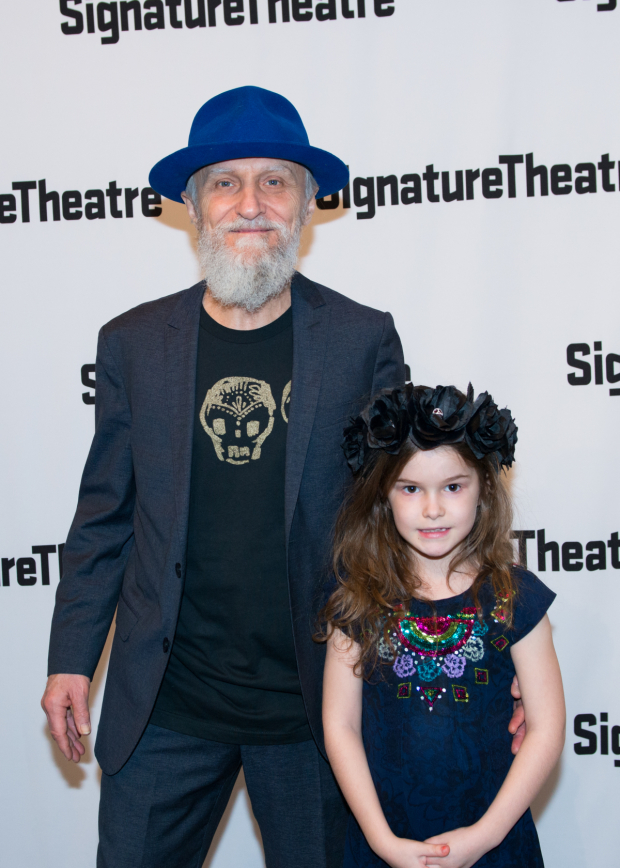 <p>David Patrick Kelly poses with a little one at opening night.</p><br />(© Allison Stock)