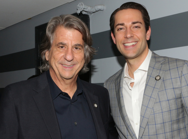 <p>David Rockwell (Best Scenic Design) and Zachary Levi (Best Leading Actor in a Musical) proudly represent <em>She Loves Me</em>.</p>