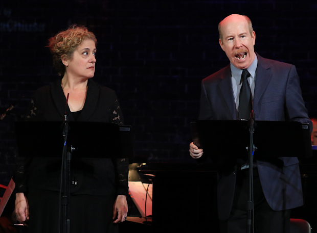 <p>D.C. Anderson sings a solo alongside Mary Testa.</p><br />(© Tricia Baron)