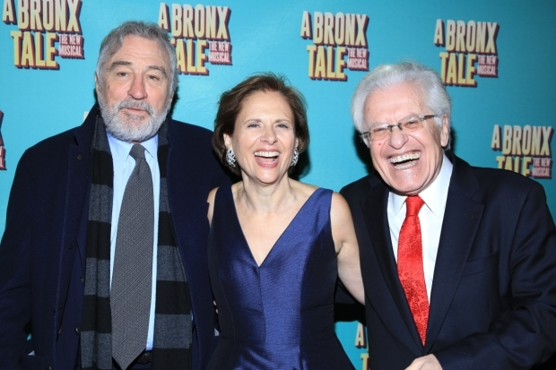 <p>De Niro joins Zaks and his wife for a red-carpet photo.</p><br />(© Tricia Baron)