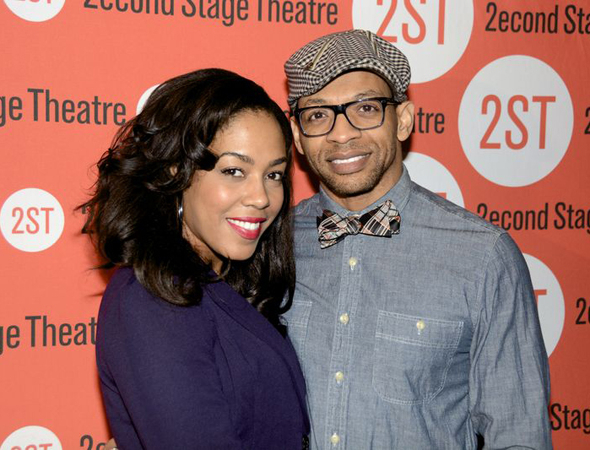 <p>De&#39&#x3B;Adre Aziza and Derrick Baskin were on hand to take in the opening.</p><br />(© Nessie Nankivell)