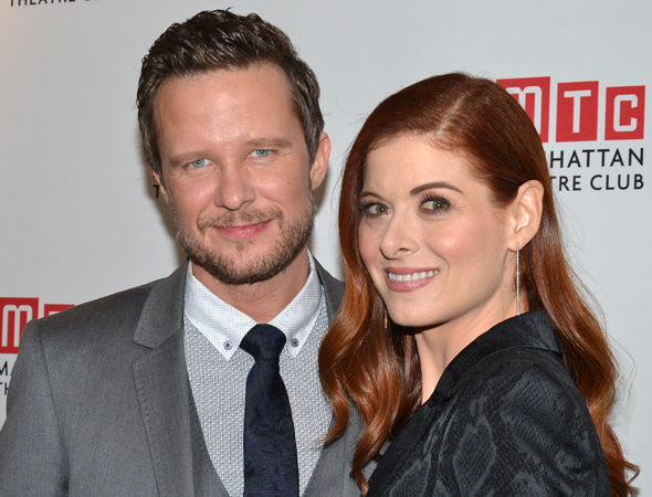 <p>Debra Messing, who plays Rosemary Muldoon, had boyfriend Will Chase as her own personal cheering section.</p><br />(© David Gordon)