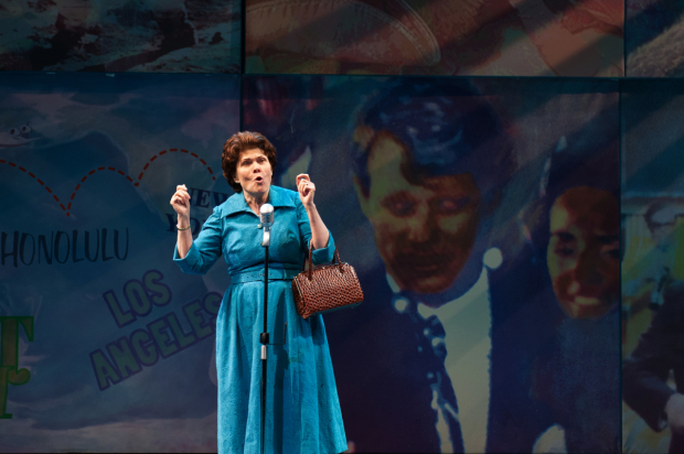 <p>Debra Monk plays the title role in <em>Mrs. Miller Does Her Thing</em>.</p><br />(© Margot Schulman)