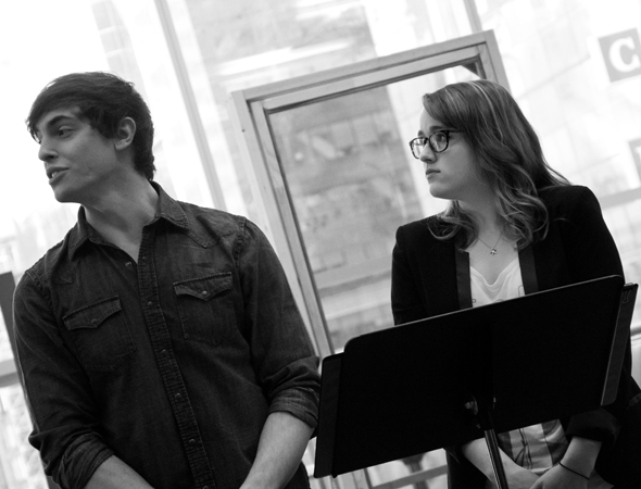 <p>Derek Klena and Caitlin Kinnunen play Michael and Carolyn, the children of Bud and Francesca.</p><br />(© David Gordon)
