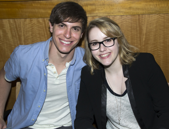 <p>Derek Klena and Caitlin Kinnunen played brother and sister in the musical.</p><br />(© David Gordon)