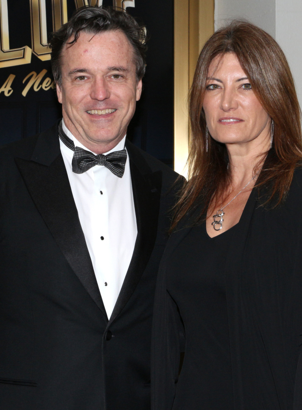 <p>Derek McLane (seen here with his significant other, Lia Vollack) is the production&#39&#x3B;s scenic designer.</p><br />(© David Gordon)