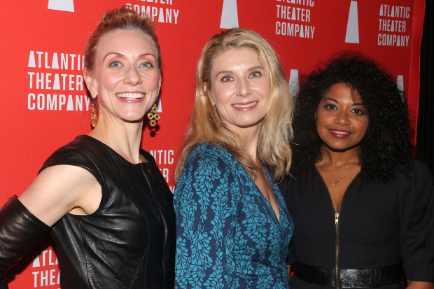 <p><em>Describe the Night</em>&#39&#x3B;s Tina Benko, Nadia Bowers, and Rebecca Naomi Jones gather for a photo.</p><br />(© David Gordon)