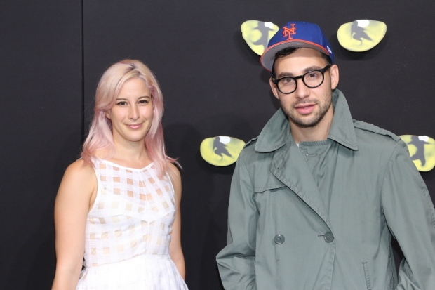 <p>Designer Rachel Antonoff and Grammy winner Jack Antonoff arrive to see <em>Cats</em> on Broadway.</p><br />(© David Gordon)