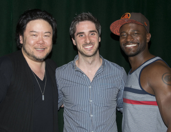 <p>Diggs poses with Arima and musical director Bryan Perri.</p><br />(© Monica Simoes)