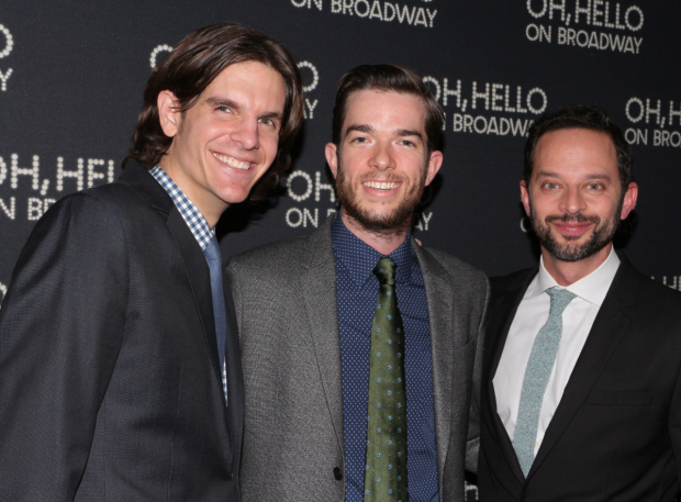 <p>Director Alex Timbers joins John Mulaney and Nick Kroll for a photo.</p><br />(© David Gordon)