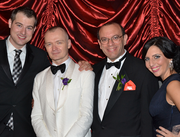 <p>Director Darko Tresnjak (second from left) joins the show&#39&#x3B;s producers, John Johnson, Joey Parnes, and S.D. Wagner, for a glamorous photo.</p><br />(© David Gordon)