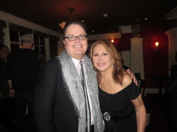 <p>Director David Saint and star Marlo Thomas at the <em>Clever Little Lies</em> post-performance celebration.