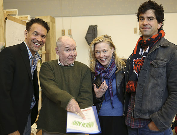 <p>Director Jack O&#39&#x3B;Brien (second from left) poses alongside Brian Stokes Mitchell (left), Kathryn Meisle, and Hamish Linklater.</p><br />(© Tammy Shell)