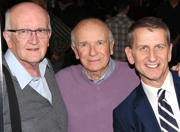 <p>Director John Doyle poses with bookwriter Terrence McNally and producer Tom Kirdahy.</p><br />(© David Gordon)