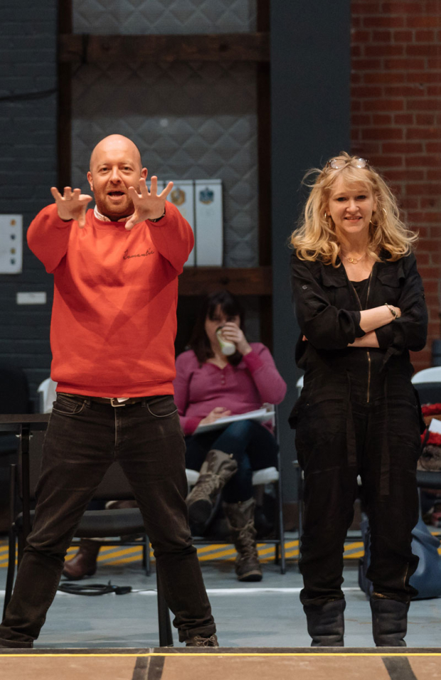 <p>Director John Tiffany and producer Sonia Friedman lead rehearsal.</p><br />(© Manuel Harlan)