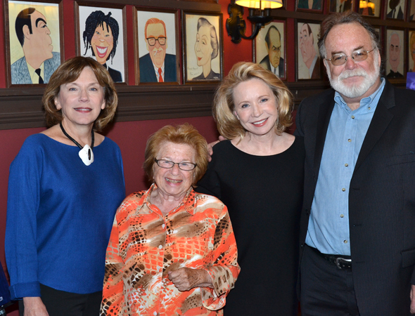 <p>Director Julianne Boyd, Dr. Ruth Westheimer, Debra Jo Rupp, and playwright Mark St. Germain.</p><br />(© David Gordon)
