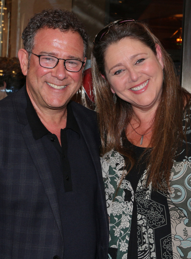 <p>Director Michael Greif poses with his friend, actor Camryn Manheim.</p><br />(© David Gordon)