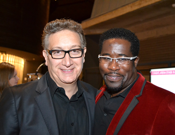 <p>Director Moisés Kaufman and playwright and performer Daniel Beaty celebrate the opening of Beaty&#39&#x3B;s solo show, <em>The Tallest Tree in the Forest</em>, at Washington, D.C.&#39&#x3B;s Arena Stage.</p><br />(courtesy of Arena Stage)