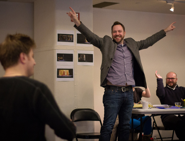 <p>Director Moritz von Stuelpnagel and playwright Robert Askins ready their show for off-Broadway.</p><br />(photo courtesy of MCC Theater)