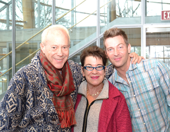 <p>Director Randy Johnson, Artistic Director Molly Smith, and cast member Levi Kreis pose for a photo. </p><br />(© Arena Stage)
