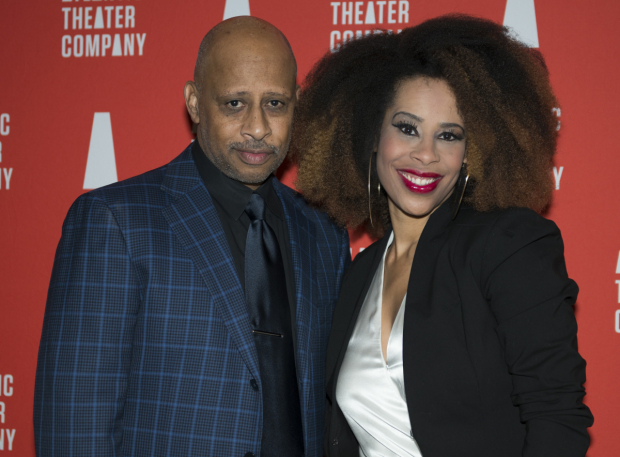 <p>Director Ruben Santiago-Hudson and playwright Dominique Morisseau are proud to open <em>Skeleton Crew</em>.</p><br />(© Allison Stock)