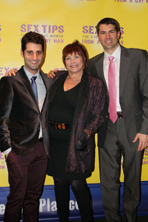 <p>Director Tim Drucker (left) joins Berman and Murphy for the opening-night celebration.</p><br />(© Stephanie Olsen)