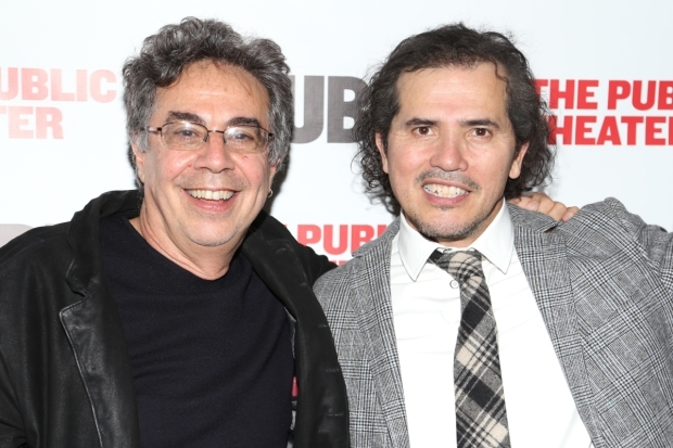 <p>Director Tony Taccone stops for a photo with star John Leguizamo.</p><br />(© Tricia Baron)