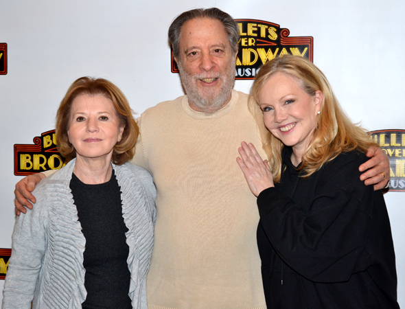 <p>Director/choreographer Stroman (right) snuggles up to her producers, Letty Aronson and Julian Schlossberg. </p><br />(© David Gordon)