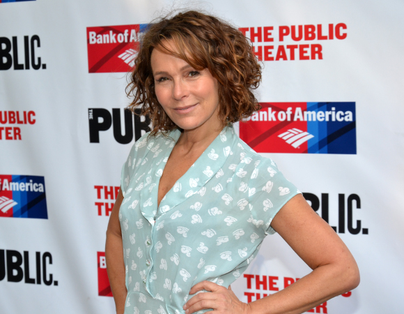 <p><em>Dirty Dancing</em> favorite Jennifer Grey smiles for the cameras.</p><br />(©  David Gordon)
