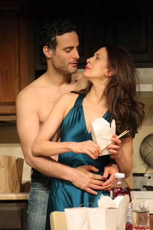 <p>Dominic Fumusa and Jessica Hecht play a pair of actors who reconnect romantically when they appear opposite each other in a play.</p><br />(© Joan Marcus)