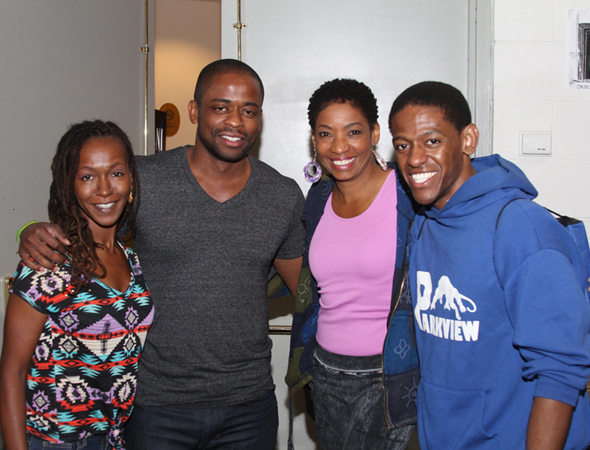 <p>Dormeshia Sumbry-Edwards, Dulé Hill, Adriane Lenox, and Jared Grimes lead the company.</p><br />(© Zac Payne)