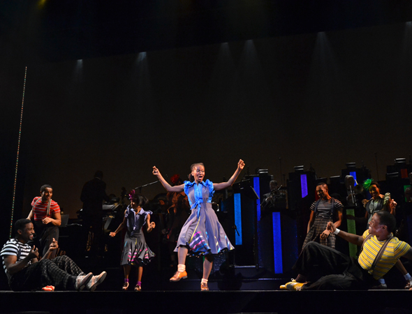 <p>Dormeshia Sumbry-Edwards leads the company in a dance.</p><br />(© David Gordon)