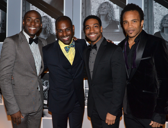 <p>Douglas Lyons, Arbender J. Robinson, E. Clayton Cornelious, and James Harkness take on the legendary doo-wop group The Drifters.</p><br />(© David Gordon)