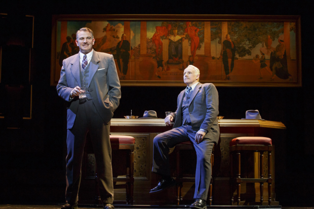 <p>Douglas Sills plays Harry Fleming and John Dossett plays Tommy Lewis.</p><br />(© Joan Marcus)