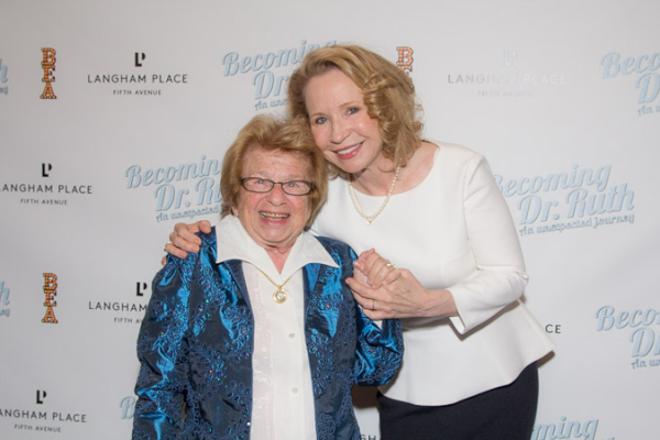 <p>Dr. Ruth is proud of her onstage likeness, Debra Jo Rupp.</p><br />(© Seth Walters)