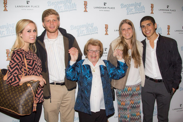 <p>Dr. Ruth loves her four grandchildren.</p><br />(© Seth Walters)