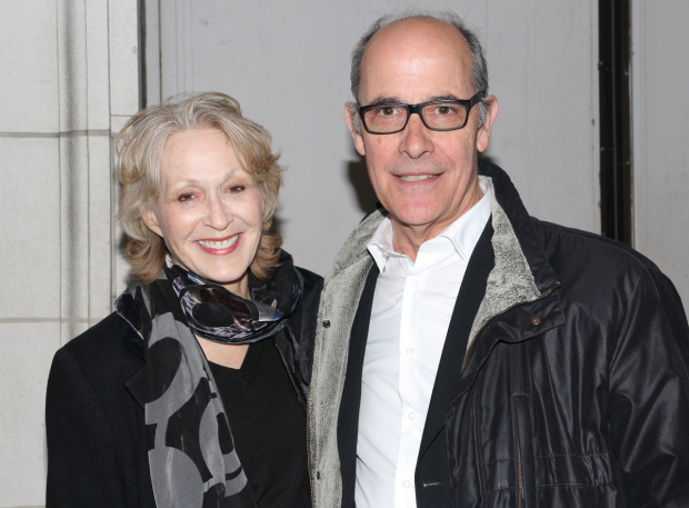 <p>Drama Desk Award winner Jan Maxwell and hubby Robert Emmet Lunney made an appearance.</p><br />(© David Gordon)